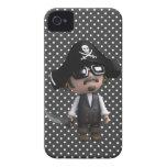Pirata divertido 3d en las gafas de sol (editable) Case-Mate iPhone 4 funda
