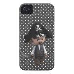 Pirata divertido 3d en las gafas de sol (editable) iPhone 4 coberturas