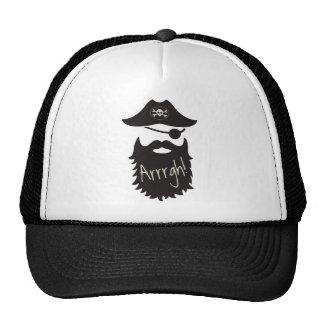 ¡Pirata divertido con el Eyepatch Arrrgh! Gorros Bordados
