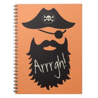 ¡Pirata divertido con el Eyepatch Arrrgh! Libreta Espiral