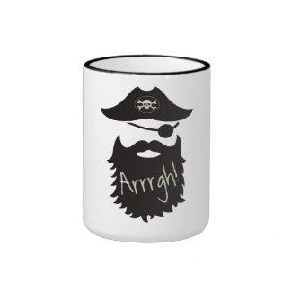 ¡Pirata divertido con el Eyepatch Arrrgh! Taza A Dos Colores