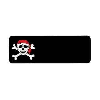 Pirata divertido etiqueta de remite