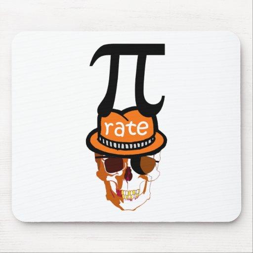 Pirata divertido Halloween del pi Mousepad
