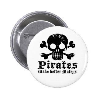 Pirata divertido pin redondo de 2 pulgadas