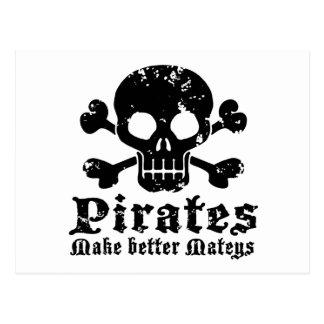 Pirata divertido tarjetas postales