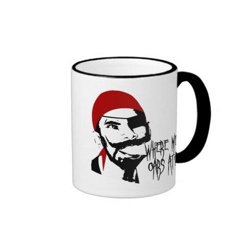 Pirata divertido tazas de café