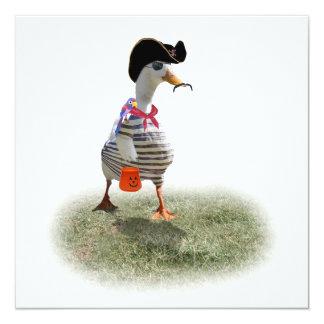 Pirata Ducky Invitación 13,3 Cm X 13,3cm