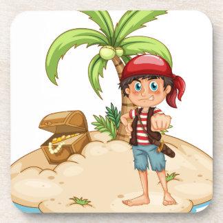 Pirata e isla posavaso