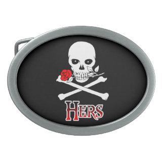 Pirata el suyo hebilla del cinturón hebilla de cinturon oval