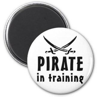 Pirata en el entrenamiento iman para frigorífico