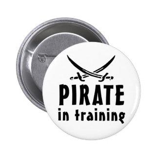 Pirata en el entrenamiento pin redondo 5 cm