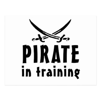 Pirata en el entrenamiento postales