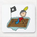 Pirata en la balsa Mousepad Tapetes De Ratones