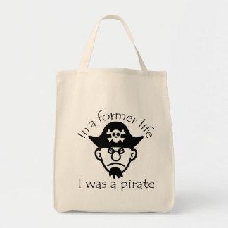 Pirata en vida anterior bolsa tela para la compra