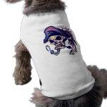 Pirata esquelético del cráneo ropa para mascota
