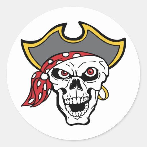 Pirata Etiquetas Redondas