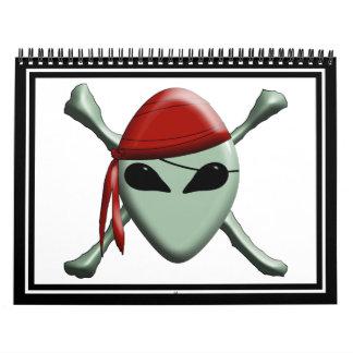 Pirata extranjero - dimensional calendario de pared