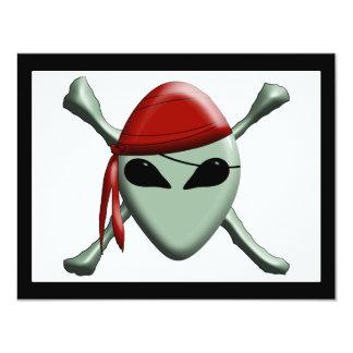 "Pirata extranjero - dimensional invitación 4.25"" x 5.5"""