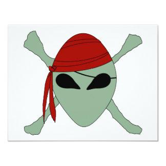 """Pirata extranjero invitación 4.25"""" x 5.5"""""""