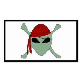 Pirata extranjero tarjetas de visita
