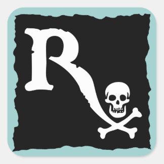 Pirata farmacéutico II Calcomanía Cuadradas