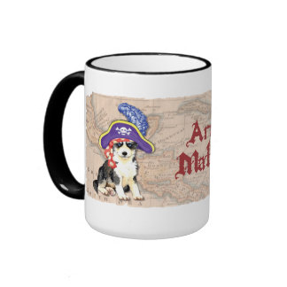 Pirata fornido taza a dos colores