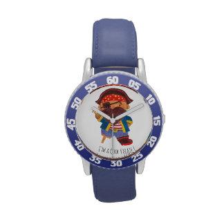 Pirata fresco reloj de mano