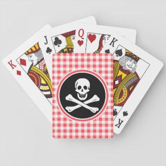 Pirata; Guinga roja y blanca Cartas De Póquer