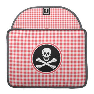 Pirata; Guinga roja y blanca Funda Macbook Pro