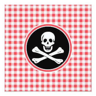 Pirata; Guinga roja y blanca Anuncio Personalizado