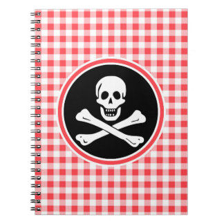Pirata; Guinga roja y blanca Libros De Apuntes