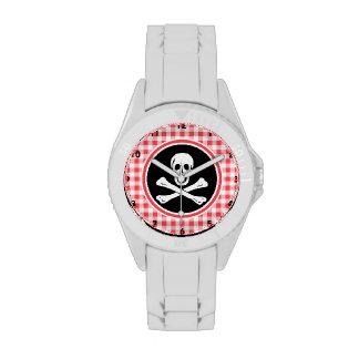Pirata Guinga roja y blanca Reloj De Mano