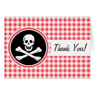 Pirata; Guinga roja y blanca Tarjeta