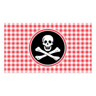Pirata; Guinga roja y blanca Plantillas De Tarjeta De Negocio
