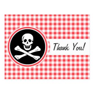 Pirata; Guinga roja y blanca Postales