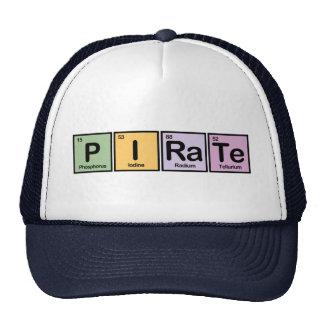 Pirata hecho de elementos gorra