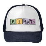 Pirata hecho de elementos gorros