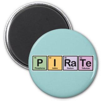 Pirata hecho de elementos imán redondo 5 cm
