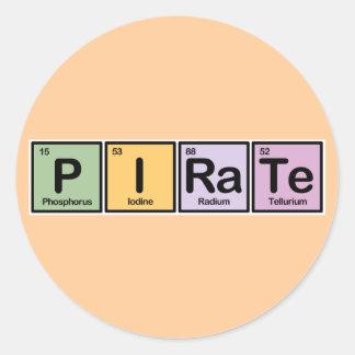 Pirata hecho de elementos etiquetas