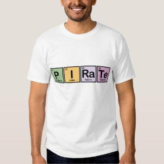 Pirata hecho de elementos remeras