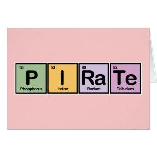 Pirata hecho de elementos tarjetas