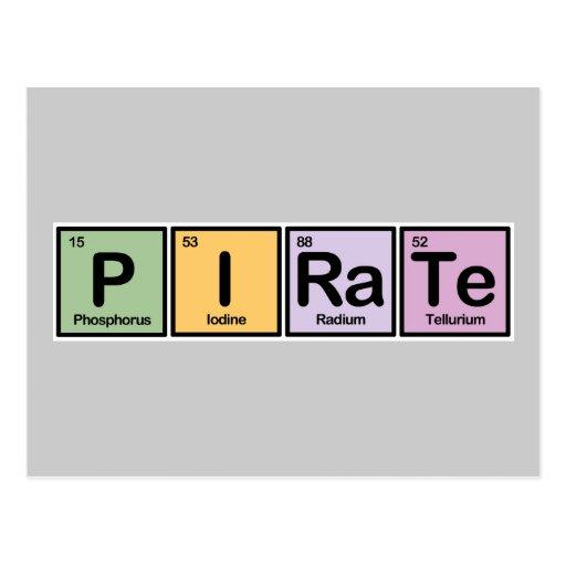 Pirata hecho de elementos tarjetas postales