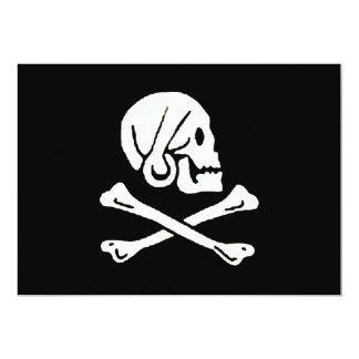 """pirata-Henrio-cada Invitación 5"""" X 7"""""""