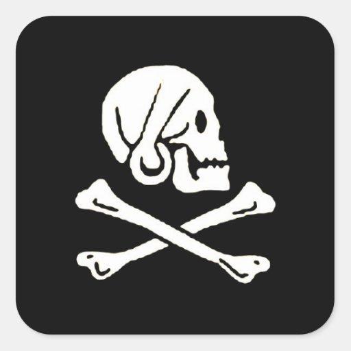 pirata-Henrio-cada Pegatina Cuadrada