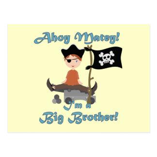 Pirata hermano mayor tarjetas postales