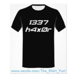 """Pirata informático 1337 de ordenador de Leet Haxor Folleto 4.5"""" X 5.6"""""""