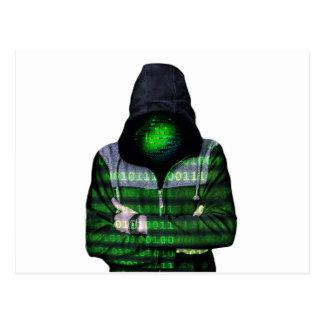 Pirata informático anónimo del Internet Postales