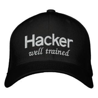 Pirata informático bien entrenado del gorra negro gorros bordados