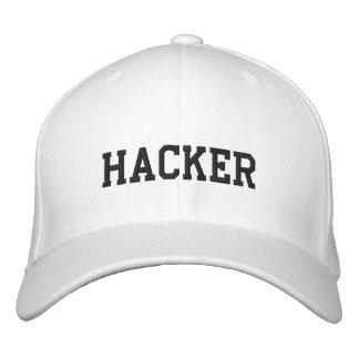 Pirata informático blanco del gorra gorra de beisbol bordada