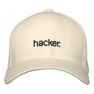 Pirata informático blanco del gorra gorro bordado